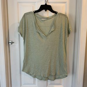 Madewell Pale Green V Neck Tee